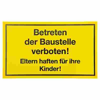 """Schild """"Betreten der Baustelle verboten!"""" 15 x 25 cm"""