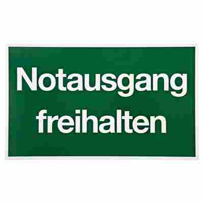 """Schild """"Notausgang freihalten"""""""