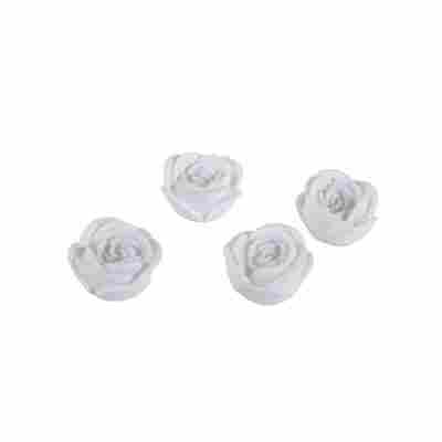 LED-Dekolichter 'Roses' Rosen-Motiv Ø 6,5 weiß 4 Stück