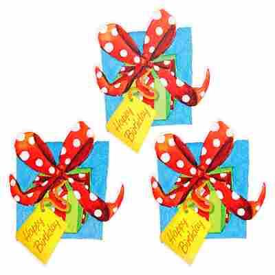Grußkartenanhänger Geburtstagsgeschenk 3 Stück
