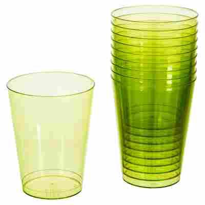 Partygläser grün transparent 25 cl 10 Stück