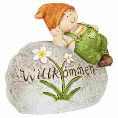 Gartenkind auf Stein sortiert 33 x 35 x 18 cm