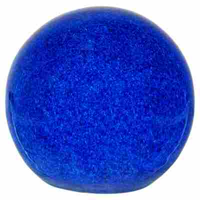 Gartenkugel Keramik glasiert blau Ø 12 cm