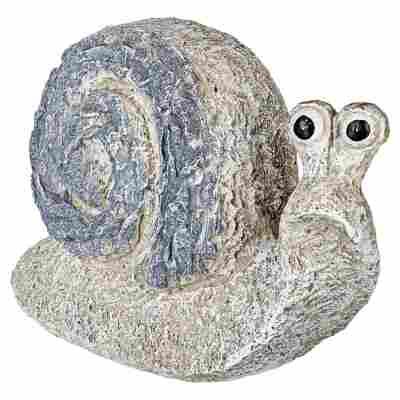 Gartenfigur Schnecke Polyresin grau 28 cm