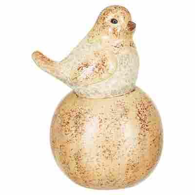 Gartenfigur Vogel auf Ball 16 x 26 x 18,5 cm