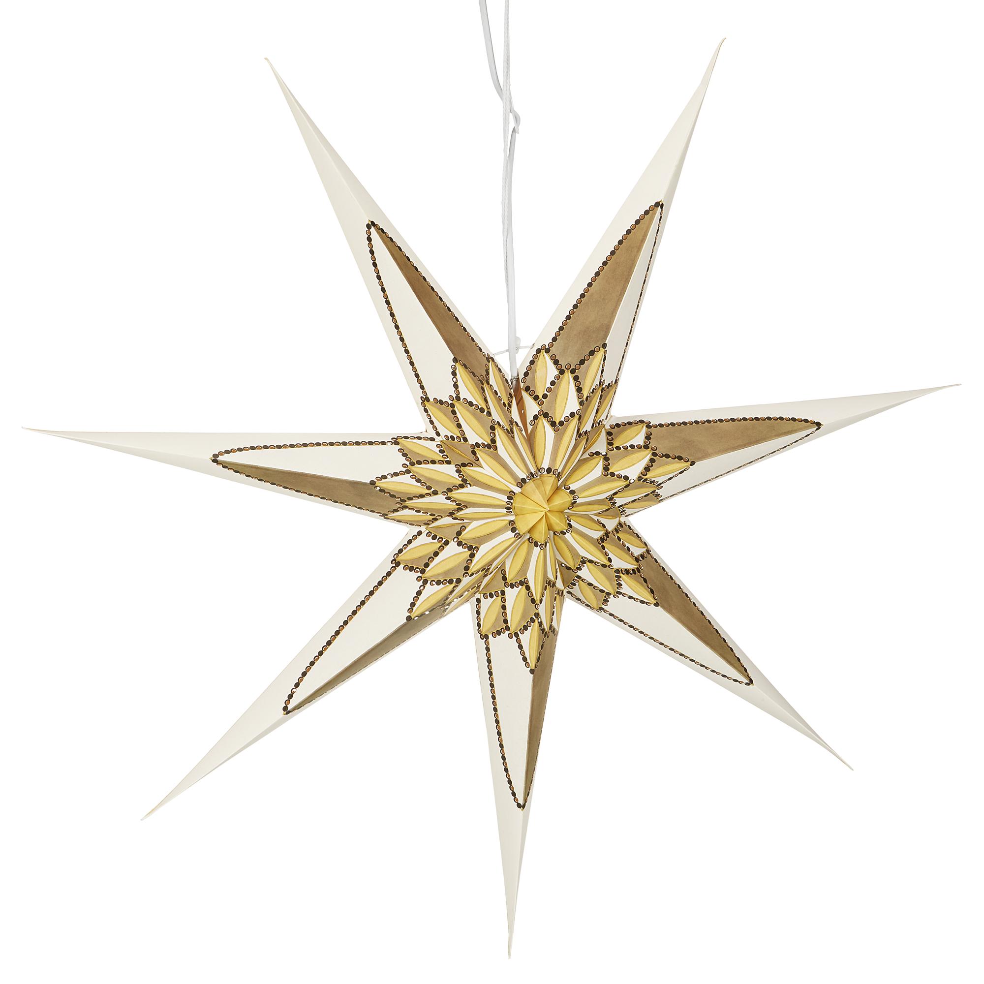 Konstsmide Weihnachtsstern Papier Perforiert Weiss Golden 78 X 78 Cm