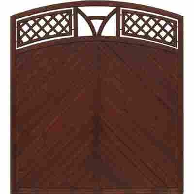 Zaunelement 'Toulon' mit Bogen braun 180 x 180 cm