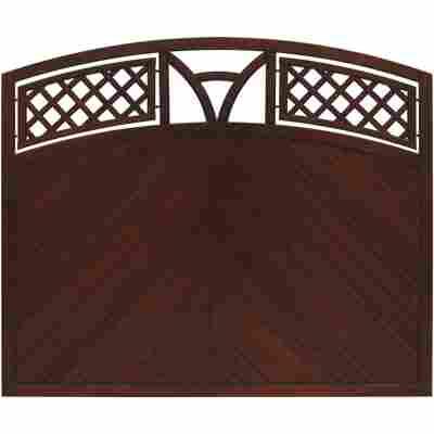 Zaunelement 'Toulon' mit Bogen braun 180 x 135 cm