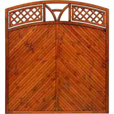 Zaunelement 'Toulon' mit Bogen teak 180 x 180 cm