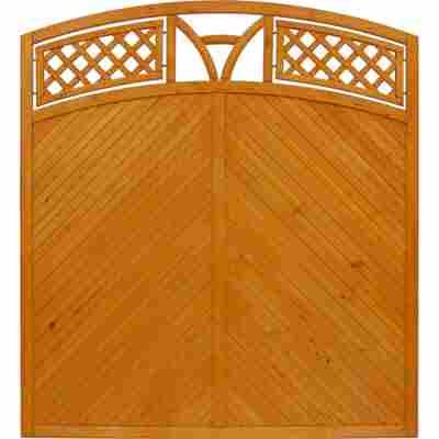 Zaunelement 'Toulon' mit Bogen pinie 180 x 180 cm