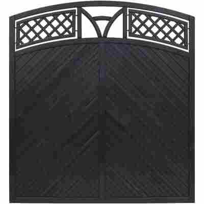 Zaunelement 'Toulon' mit Bogen anthrazit 180 x 180 cm