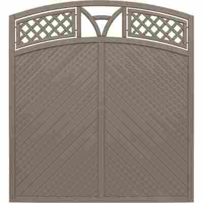 Zaunelement 'Toulon' mit Bogen grau 180 x 180 cm