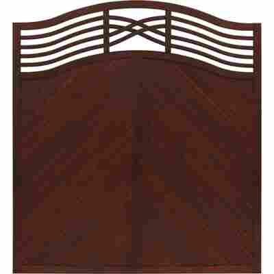Zaunelement 'Marano' 180 x 180 cm braun