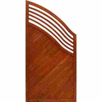 Zaun-Schrägelement 'Marano' 90 x 180 cm teak