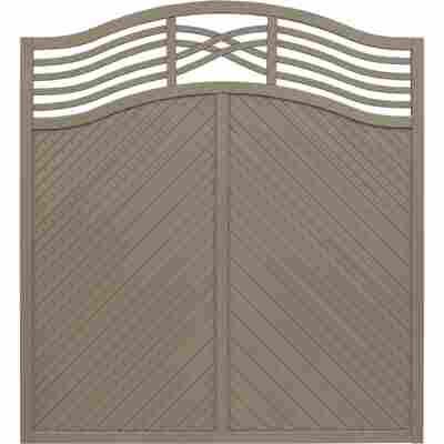 Zaunelement 'Marano' 180 x 180 cm grau