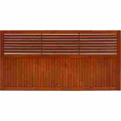 Vorgarten-Zaunelement 'New Jersey' 180 x 90 cm teak