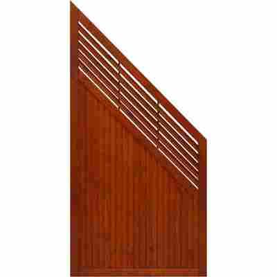 Zaun-Schrägelement 'New Jersey' 90 x 180 cm teak
