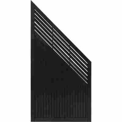 Zaun-Schrägelement 'New Jersey' 90 x 180 cm anthrazit