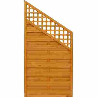 Zaun-Schrägelement 'BK' pinie 90 x 180 cm