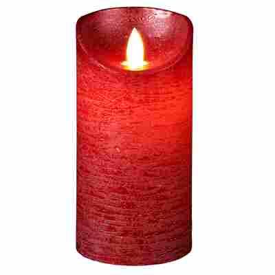 LED-Echtwachskerze rot Ø 7,5 x 15 cm