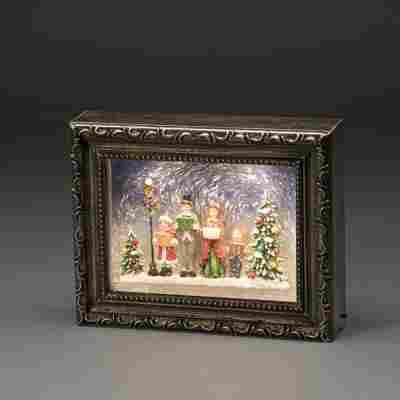 LED-Bilderrahmen Weihnachtschor bunt 19,5 cm