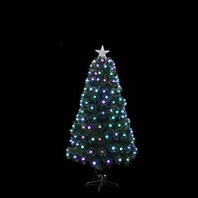 Kleiner Weihnachtsbaum Mit Beleuchtung.Weihnachtsbaum Fibre Optic Gruen Multi Funktion