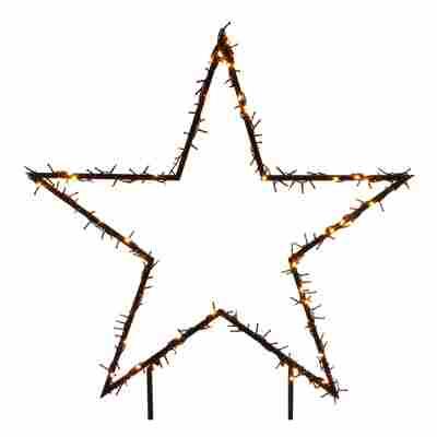 Gartenstecker 'Stern' beleuchtet 121 cm