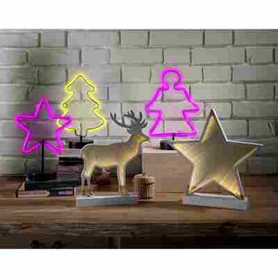 LED-Neon-Silhouette 'Engel' pink 23 LEDs