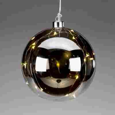 LED-Kugel aus getöntem Glas Ø 15 cm
