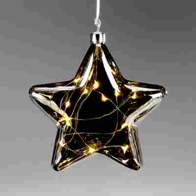 LED-Stern aus getöntem Glas Ø 17,5 cm 3 Stück