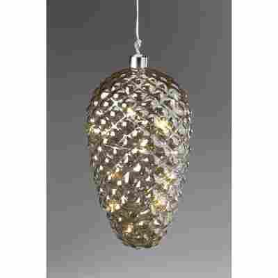 LED-Zapfen aus getöntem Glas Ø 21,5 cm 3 Stück