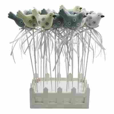 Blumenstecker 'Vögel' 3 Farben sortiert