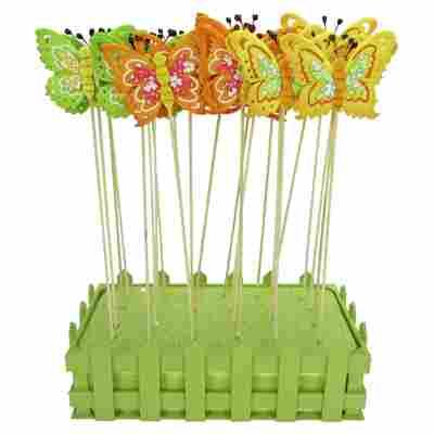 Blumenstecker 'Schmetterlinge' 3 Farben sortiert