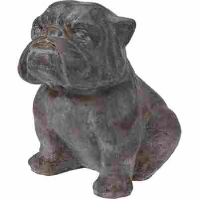 Dekofigur 'Bulldogge' grau 42 cm
