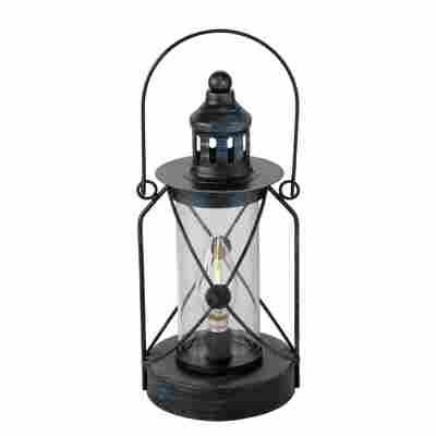 LED-Laterne 'Zuma' schwarz, Ø 12 x 28 cm