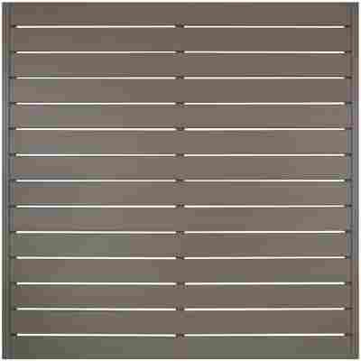 Zaunelement Faro grau 180 x 180 cm