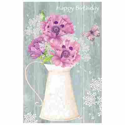 Grußkarte Geburtstag 'Blumenkrug'