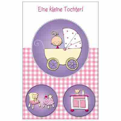 Grußkarte Geburt 'Mädchenzimmer'