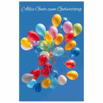 Grußkarte Geburtstag 'Ballongrüße'