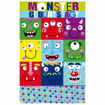 Grußkarte Geburtstag 'Monster Birthday'