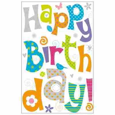Grußkarte Geburtstag 'Buchstaben'