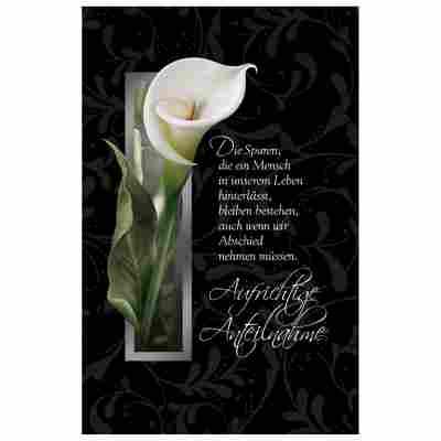 Grußkarte Trauer 'White Calla'