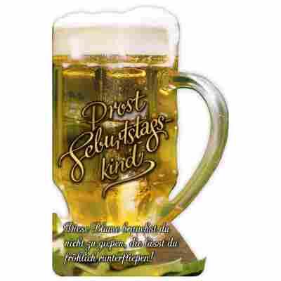 Grußkarte Geburtstag 'Bierkrug'