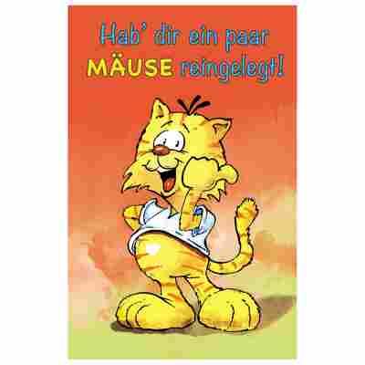 Geldscheinkarte Humor 'Katze'