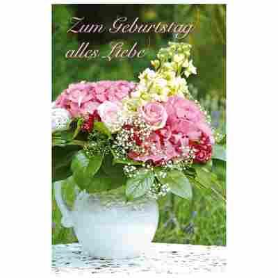 Grußkarte Geburtstag 'Rosenzauber'