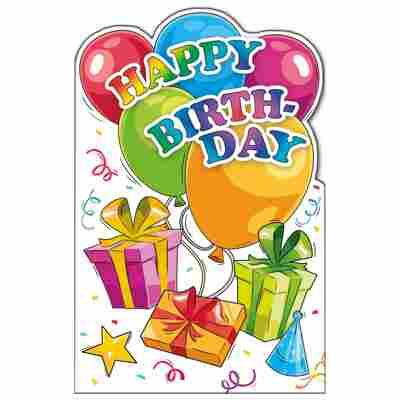 Grußkarte Geburtstag 'Riesenluftballons'