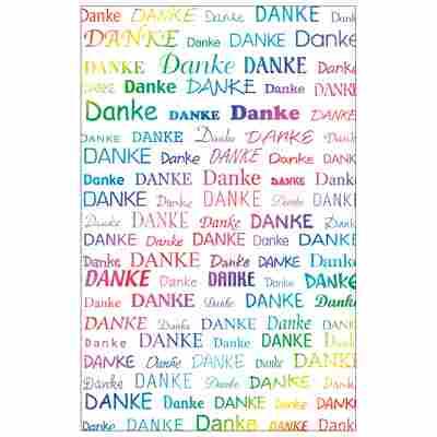 Grußkarte Danke 'Rainbow Colors'