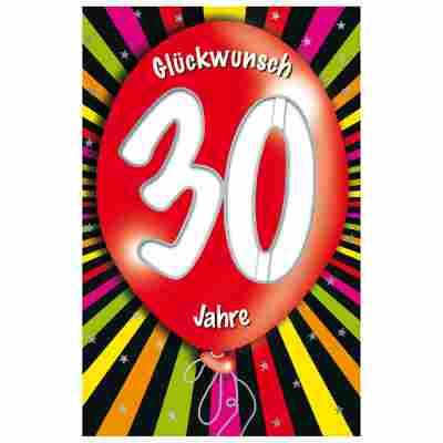 Grußkarte Geburtstag '30 Ballon'