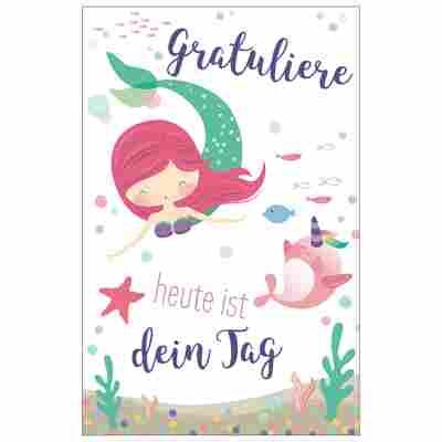 Grußkarte Geburtstag 'Kleine Meerjungfrau'