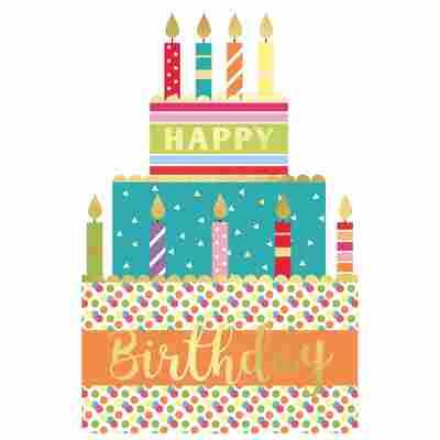 Grußkarte Geburtstag 'Torte'